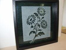 Handmade Art Sandblast Flowers scene Lighted Display Gift Marble Curio