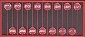 HO Red Modern (Post-1954) Stop Signs (15) - Tichy Train Group #8247 vmf121
