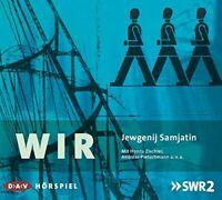 JEWGENIJ SAMJATIN - HANNS ZISCHLER/JANA SCHULZ/+: WIR 2 CD NEW