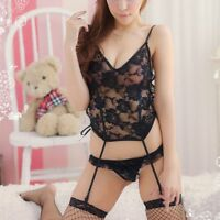 Sexy Lace Women's Lingerie Babydoll Dress Underwear Sleepwear Chemise G-String