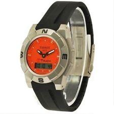 Tissot T-Trekking Black Rubber Band Strap bracelet & Titanium Buckle T001 520A