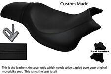 BLACK STITCH CUSTOM FITS HYOSUNG GV 650 AQUILA 04-11 DUAL LEATHER SEAT COVER