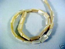 "Gold MOP Trocca Shell 12 X 8 Rectangle Beads 16"" Strands"
