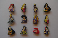 6 x DISNEY PRINCESS SHOE CHARM PARTY FAVOR CAKE DECORATION SCRAPBOOKING