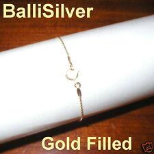 14kt GOLD FILLED 0.6mm Fine Chain BRACELET BalliSilver