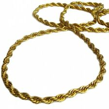 Gold plated 36″ Length 6mm Thick Rope Hiphop Bling Chain