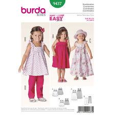 Burda Easy SEWING PATTERN 9437 Toddlers/Girls Top,Trousers,Dress 18m-6y