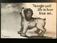 Vintage Postcard>1910>Thought You'd Like to Hear from Me>Comical