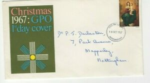 1967 CHRISTMAS - NOTTINGHAM CDS PHOSPHOR FDC FROM COLLECTION A10