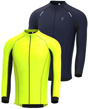 Mens Cycling Jersey Long Sleeve Thermal Windproof Softshell Jacket for Biking