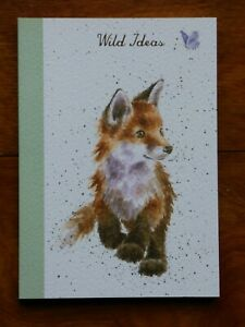 """WRENDALE A6 paperback notebook """"BORN TO BE WILD"""" -FOX"""