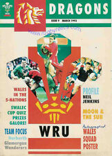 DRAGONS No 9 Mar 1993 RUGBY MAG PHILIPPE BENNETON JJ WILLIAMS NEIL JENKINS