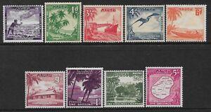 NAURU - QEII - 1954 - DEFINITIVES SET OF 9 - MM - SG 48/56 - CAT £15
