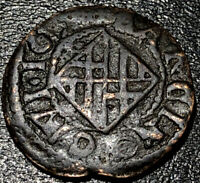 1655 Spain Principality of Catalonia Ardite Felipe IV Medieval Spanish Coin