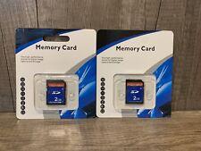 2 Pack SD Card 2GB Class 4 Flash Memory Card 2G SLC Stanard Secure Digital Cards