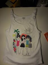 GYMBOREE Mix N Match Size M(7-8) White Great Day For The Beach Tie-Strap Tank