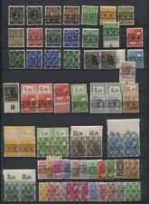 Germany 1948 British /US Zone Ovpts MNH Stock Pairs, Singles Some Expertised