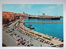 TRIESTE nave ship Lloyd Colombo Stazione molo audace vecchia cartolina