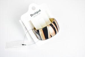 DESIGUAL PULS ZEBRA Women's Solid Resin Slid On Printed Bracelet 12011 mm