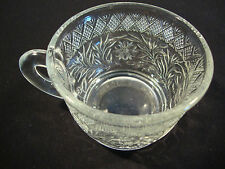 """1 Clear Glass Tea Espresso Coffee Cup Holiday H 2"""" Diameter 2.75"""" Chai Floral"""