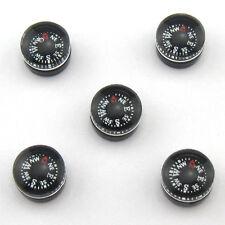 12pcs 9.6mm Small Mini Liquid-filled Button Compass Charm Craft Novelty Black