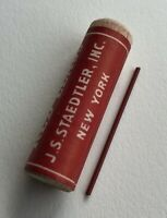 Vintage J. S. Staedtler DIANA Red 1.18mm Mechanical Pencil Lead NOS Tube 12 USA