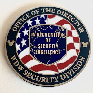 Official Walt Disney World Security Challenge Coin - Rare Security Director Coin