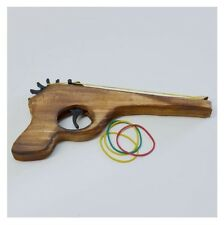Wooden Classic Repeater Rubber Band Gun Toy New