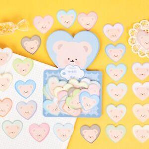 Cute Decorative Kawaii Heart Bears Japanese Stationery Stickers | Pack of 40