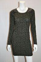 TEMT Brand Khaki Animal Print Sweater Dress Size S BNWT #TP77