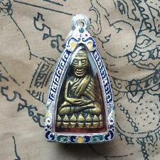 Phra L P Thuad Wat Chang Hai,Bronze,Year 2497 beautiful Silver case