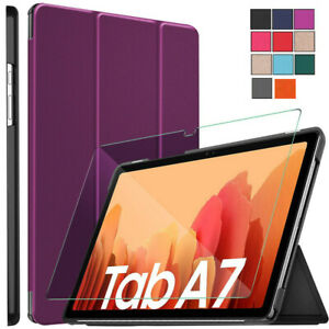 Samsung Galaxy Tab A7 10.4 T500 T505 2020 Smart Case Tempered Glass Tablet Cover