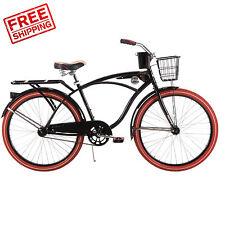 """26"""" Huffy Men's Nel Lusso Cruiser Bike, Black New"""