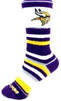 Minnesota Vikings For Bare Feet Youth Soft Stripe Crew-Length Socks