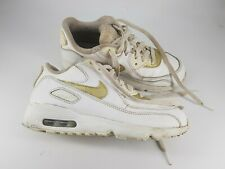 Nike Air Max size 2.5 (35) white / gold lace up trainers