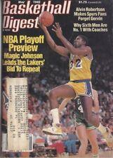 1986 MAY Basketball Digest Magazine Magic Johnson, Los Angeles Lakers VG