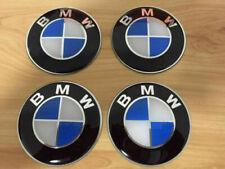 4 pcs/set  BMW Center Hub Cap Stickers X4 Blue/White Fits Most BMW Vehicle 65MM