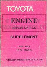 1974 Toyota California Engine Repair Manual Celica Land Cruiser Pickup Corolla