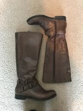 """Me Too """"Britain"""" Brown Leather Riding Boots Women's Size 6M"""