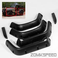 """For 97-06 Jeep Wrangler TJ 6"""" Wide Pocket Rivet Style Fender Flares Protectors"""