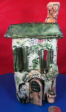 Whimsical Grandma's Place Ceramic House Candle/Votive Cover by Heather Goldmine!