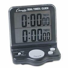 Champion Sports Electronic Dual Timer Clock With Big Digit Jumbo Display DC100