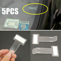 5PCS Car Windscreen Parking Ticket Permit Card Holder Clip Adhesive Sticker Set