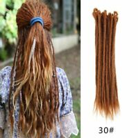 5Pcs Long Synthetic Hair Dreadlocks Extensions Crochet Braid Faux Reggae Dreads
