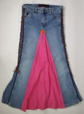 Mudd Denim HAND MADE HIPPY SKIRT MUDD JEANS SIZE 14 BLUE & PINK FLOWER