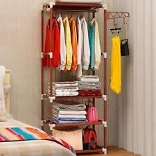 Rack Floor Standing Clothes Hanging Storage Shelf Clothes Hanger Multifuctional