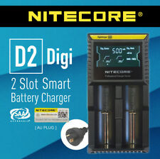 Nitecore D2 2-Slot Intelligent Smart Battery Charger Li-ion 18650 RCR123a 26650