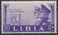 1941 COLONIA LIBIA ALLEANZA HITLER MUSSOLINI CENT 50 MNH ** - RE66-8