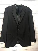 Joseph Abboud Classic Black Tuxedo Jacket two button no vent 46L Long  (defect)