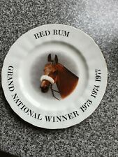 ROYAL DOULTON DECORATIVE PLATE OF RED RUM WINNING 1973 1974 1977